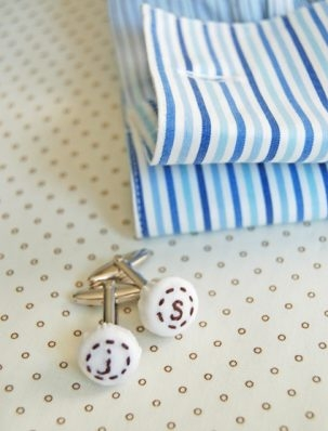 Monogrammed Cuff Links for Father's Day | Purl Soho