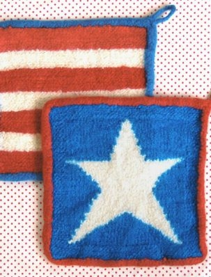 Stars + Stripes Felted Hot Pads | Purl Soho