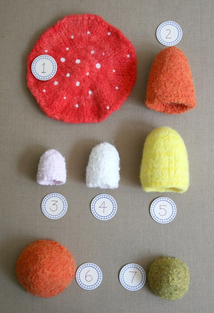 Felted Mushrooms from Kathryn Ivy | Purl Soho