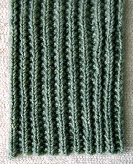 Easy Mistake Stitch Scarf Purl Soho