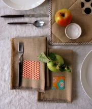 Fringed Thanksgiving Napkins | Purl Soho