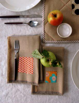 Fringed Thanksgiving Napkins | Purl Soho