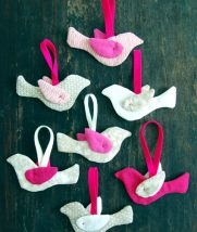 Simple Sewn Bird Ornaments | Purl Soho