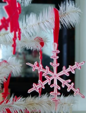 Two Sided Felt Snowflakes | Purl Soho
