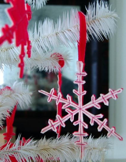 Two Sided Felt Snowflakes | Purl Soho