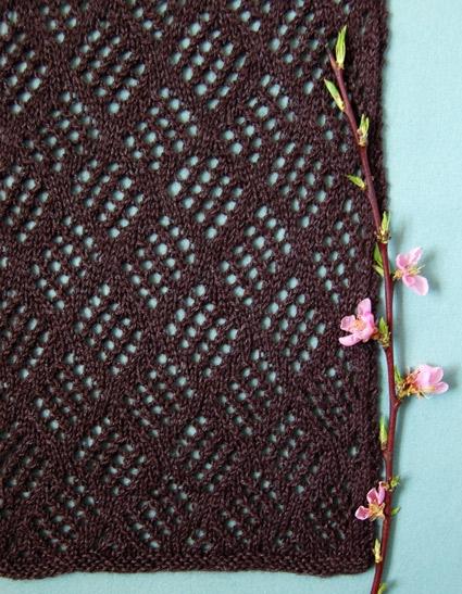 Checkerboard Lace Scarf Purl Soho