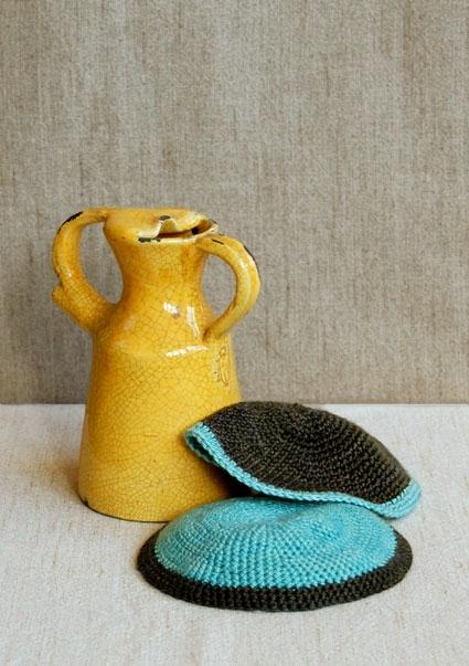 Crochet Yarmulke Patterns : Crocheted Passover Yarmulke Purl Soho