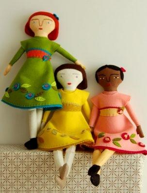 Mimi Kirchner's Hand Sewn Felt Doll | Purl Soho