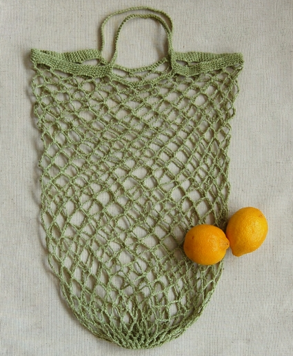 Free Crochet Patterns For Grocery Totes : Crocheted Linen Grocery Tote Purl Soho