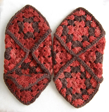 Knitting Pattern Slippers Squares : Granny Square Slippers Purl Soho