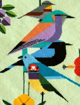 Announcing Charley Harper Needlepoint Canvases at Purl! | Purl Soho