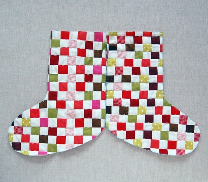 Strip Pieced Christmas Stocking | Purl Soho