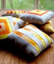 Miniature Patchwork Pincushions | Purl Soho