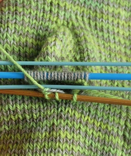 Long Striped Hand Warmers in Swan's Island Organic Merino | Purl Soho