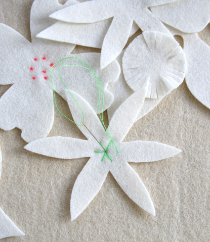 Felt Flower Winter Wreath | Purl Soho