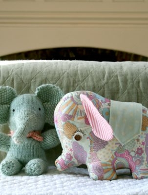 Handmade Baby Elephants from Last-Minute Knitted Gifts & Last-Minute Patchwork + Quilted Gifts! | Purl Soho