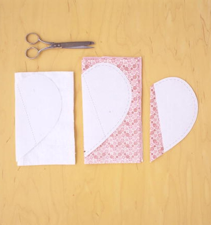 Heart Shaped Potholders from Martha Stewart's Encyclopedia of Sewing & Fabric Crafts | Purl Soho