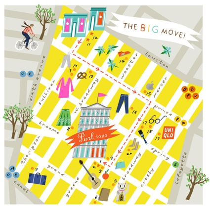 More on The BIG Move:A Lena Corwin Map! | Purl Soho