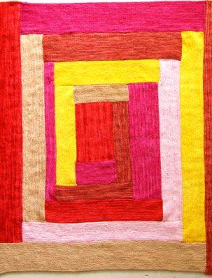 Anzula 'Squishy' Log Cabin Baby Blanket | Purl Soho