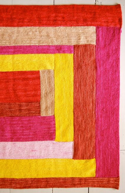 Anzula  Squishy  Log Cabin Baby Blanket Purl Soho