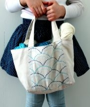 Sashiko Mini Tote (or Apron) Kit | Purl Soho