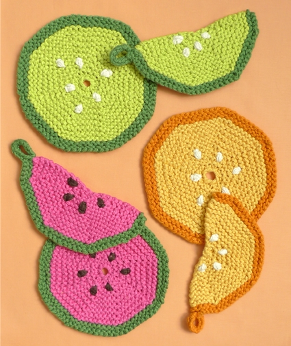 Fruity Trivets Pot Holders The Knitted Version Purl Soho