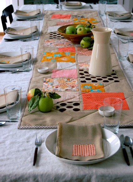 Thanksgiving Table Appliqued + Quilted Runner | Purl Soho