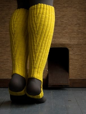 A Purl Soho Pattern: Loeffler Randall Rain Boot and Rain Bootie Stirrup Socks! | Purl Soho