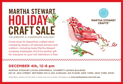 Purl Soho at the Martha Stewart Holiday Craft Sale! | Purl Soho