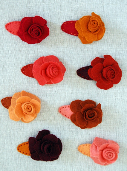 Rose Barrettes | Purl Soho