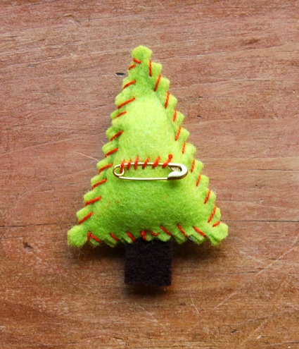 Felt Christmas Tree Pins | Purl Soho