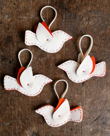 Felt Bird Ornaments | Purl Soho
