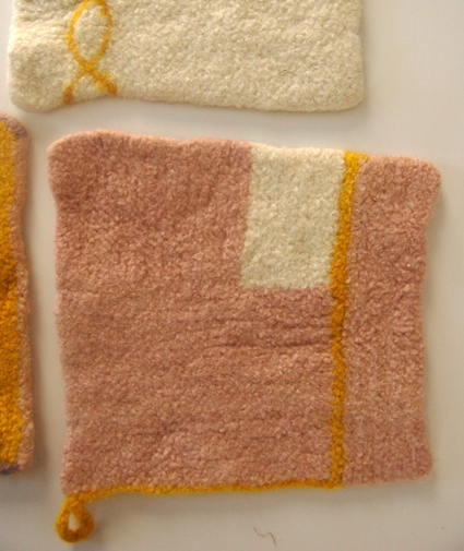 Four Felted Hot Pads | Purl Soho