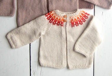 Baby Girl Fair Isle Cardigan Pattern