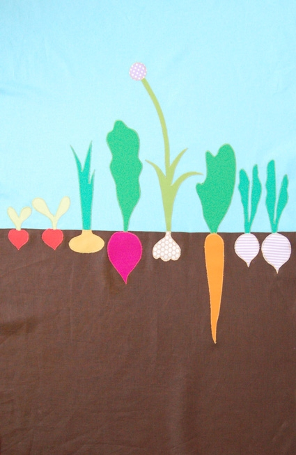 Mini Quilt of the Month, April: The Vegetable Patch | Purl Soho
