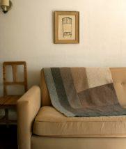 Half Log Cabin Ombre Blanket   Purl Soho