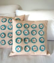 Linen Flower Pillows | Purl Soho
