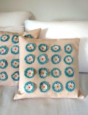 Linen Flower Pillows | Purl Soho
