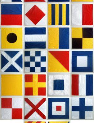 Nautical Flag Napkins | Purl Soho