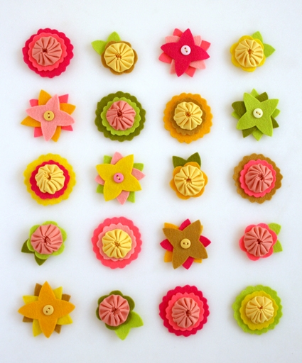 Felt Flower Charms | Purl Soho