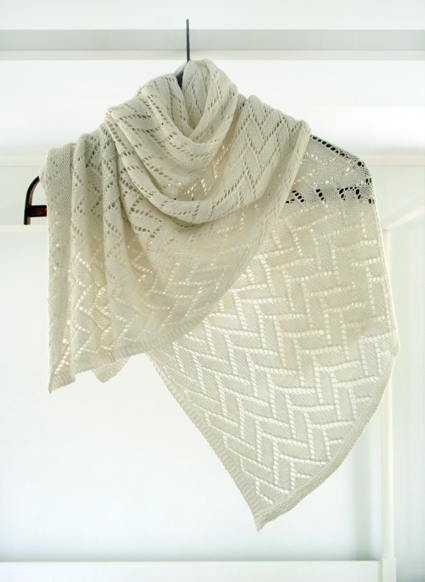 Wedding Knitting Patterns : Bamboo Wedding Shawl Purl Soho