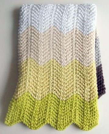 Baby Blanket | Purl Soho : pattern for chevron baby quilt - Adamdwight.com
