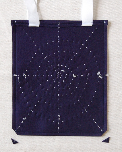 Glow in the Dark Spider Web Treat Bag | Purl Soho