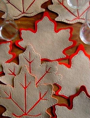 Fall Leaves Coasters | Purl Soho