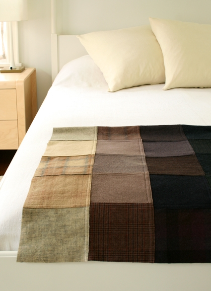 Felted Wool Patchwork Throw | Purl Soho