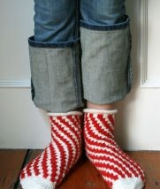 Candy Cane Bedroom Socks | Purl Soho