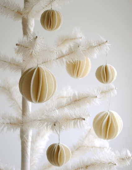 Felt Snow Ball Ornaments