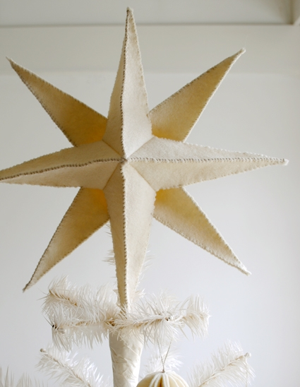 Felt Star Pendant Tree Topper