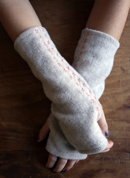 Felted Wool Wrist Warmers | Purl Soho
