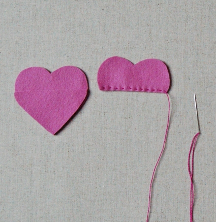 Felt Candy Hearts | Purl Soho